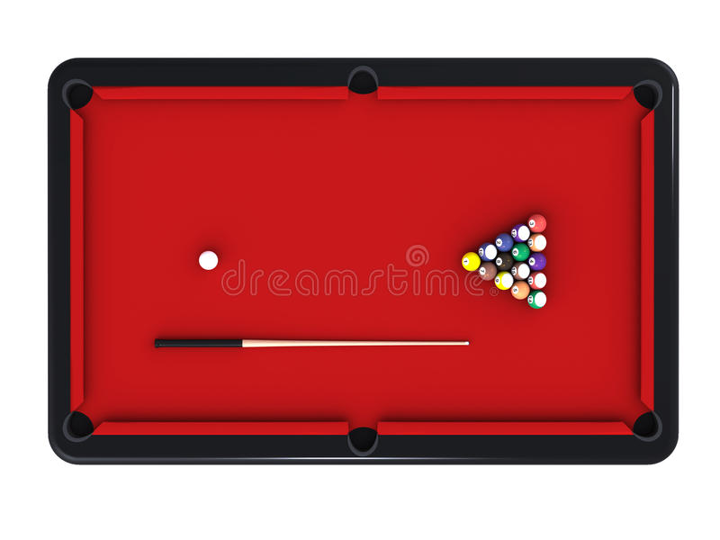 Billiard table royalty free illustration
