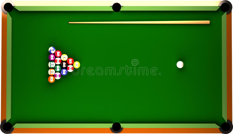 Billiard Table royalty free illustration