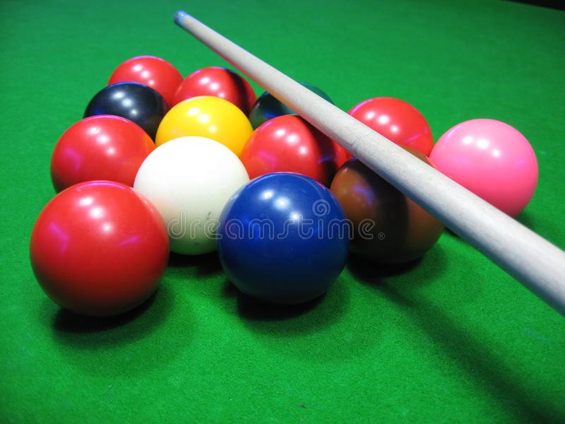 Billiard table royalty free stock photos
