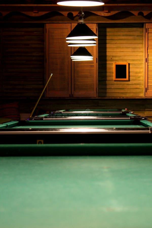billiard tables στοκ φωτογραφίες