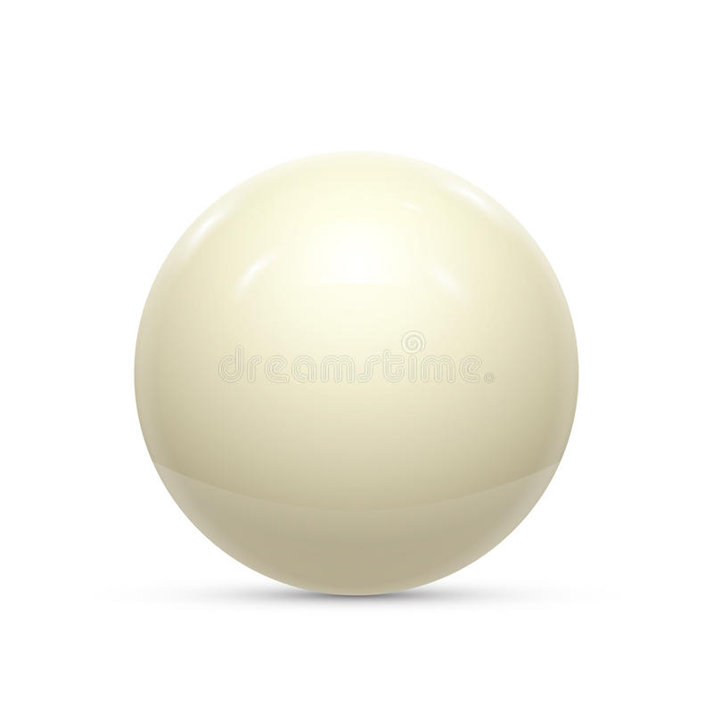Billiard white ball isolated on a white background vector. Illustration vector illustration