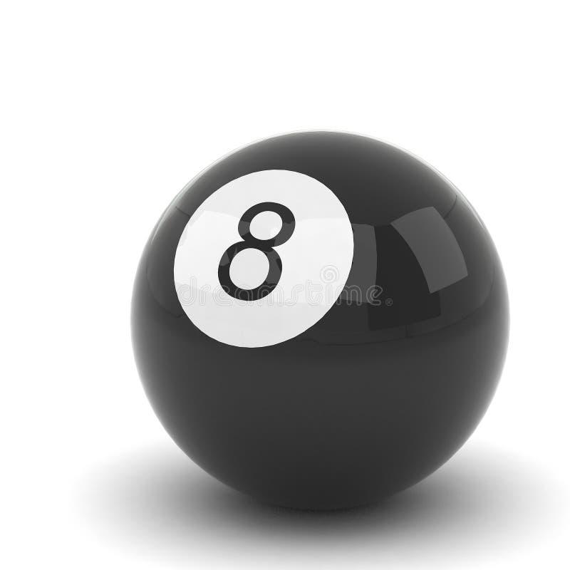 Billiardboll som isoleras på vit royaltyfri illustrationer