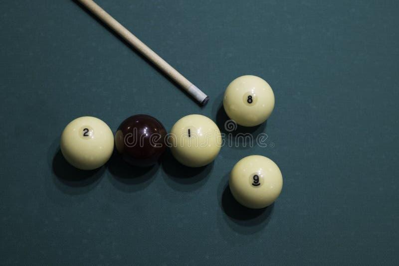 Billiardbollar och stickreplik Nummer 2018 och 2019 från billiardbollar arkivfoton
