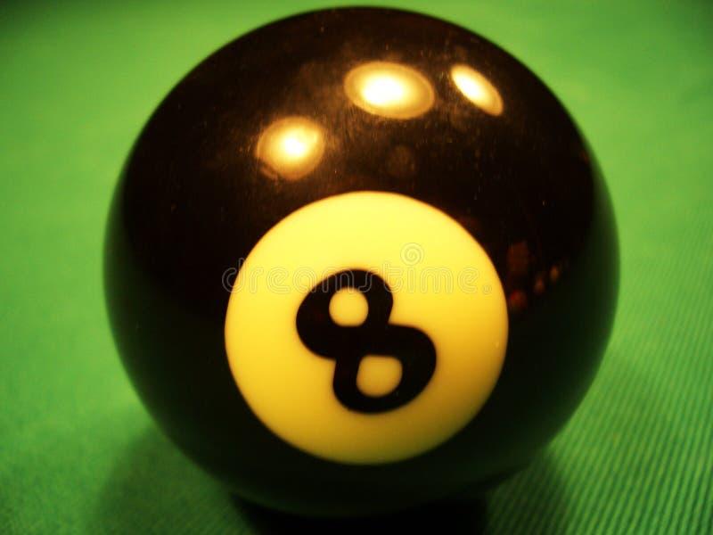 Billiardkugel - 8. stockfotos