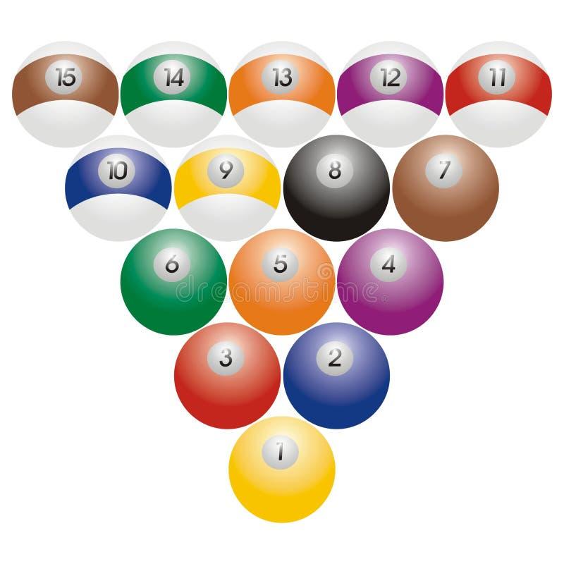 Billiardkugeln stock abbildung