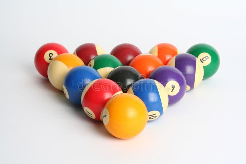 Billiardkugeln stockbilder