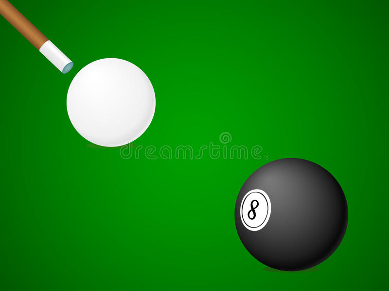 Billiardkugeln mit Marke lizenzfreie abbildung