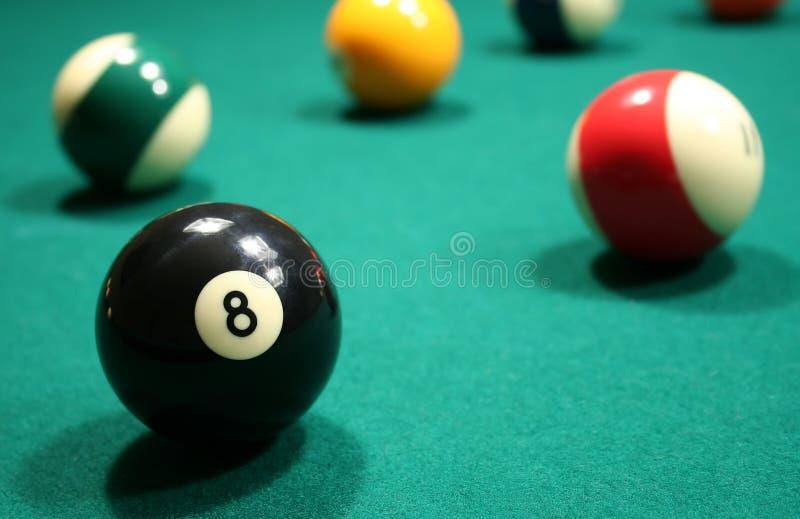 billiardpöl för amerikanska bollar arkivfoto