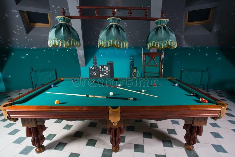 Download Billiards stock photo. Image of attic, estate, lamp, billiards - 13810402