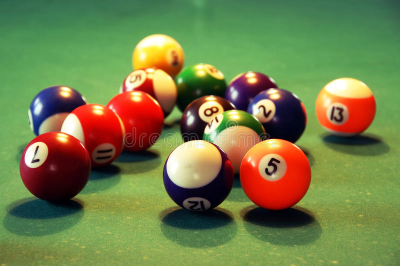 Download Billiards stock photo. Image of disorder, balls, amusement - 18606946