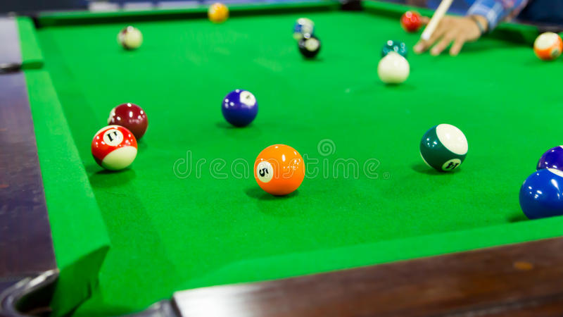 billiards zdjęcia royalty free