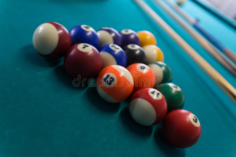 Download Billiards background stock photo. Image of object, number - 63608902