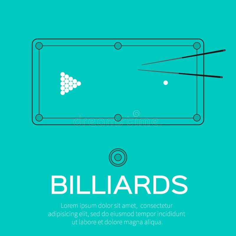 Billiards, basen, snooker gra royalty ilustracja
