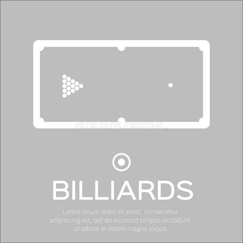 Billiards, basen, snooker gra ilustracja wektor
