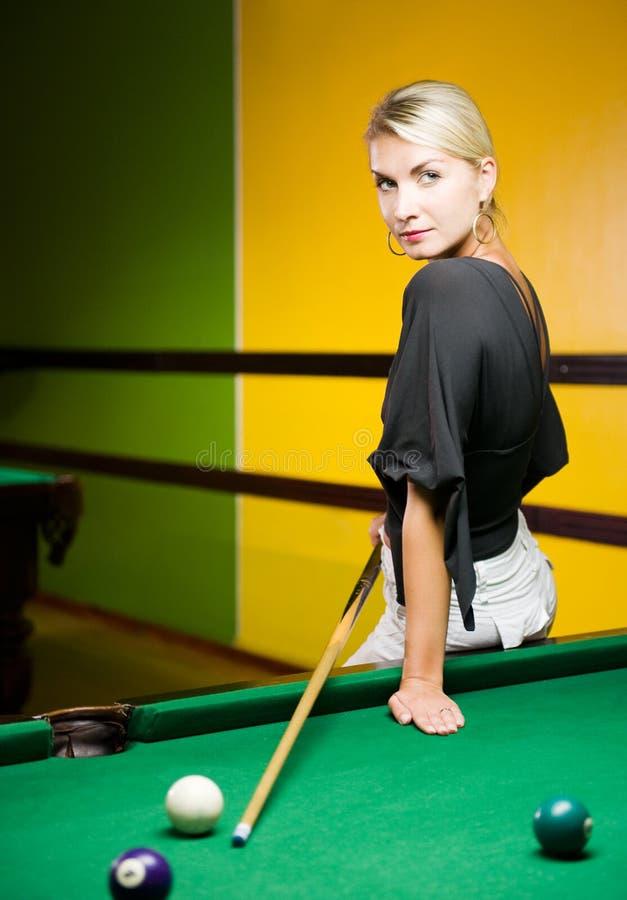 billiards bawić się kobiety zdjęcie royalty free