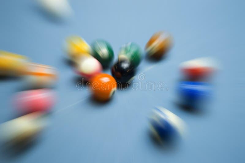 Download Billiards break stock image. Image of motional, moment - 7891257