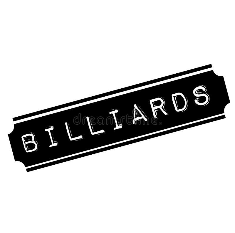 Billiards czerni znaczek ilustracji