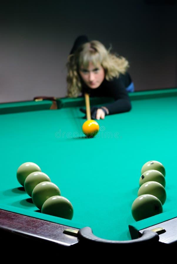 billiards dziewczyny sztuka zdjęcia stock