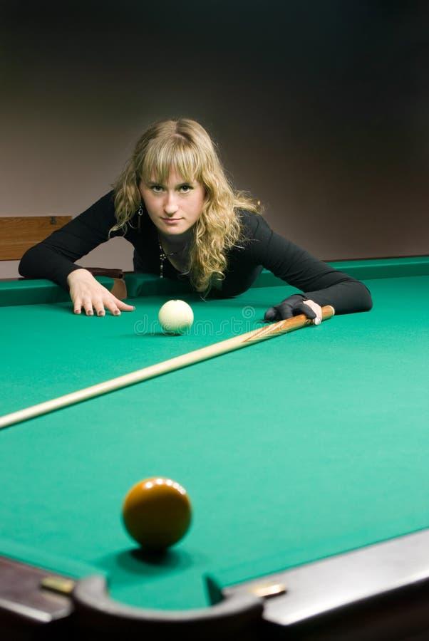 billiards dziewczyny sztuka zdjęcie stock
