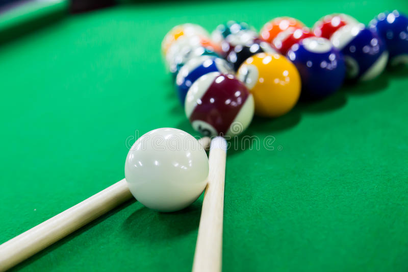 Billiards game stock images