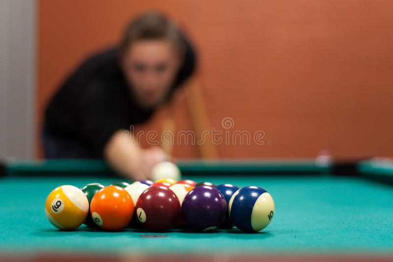 billiards gracz obrazy stock