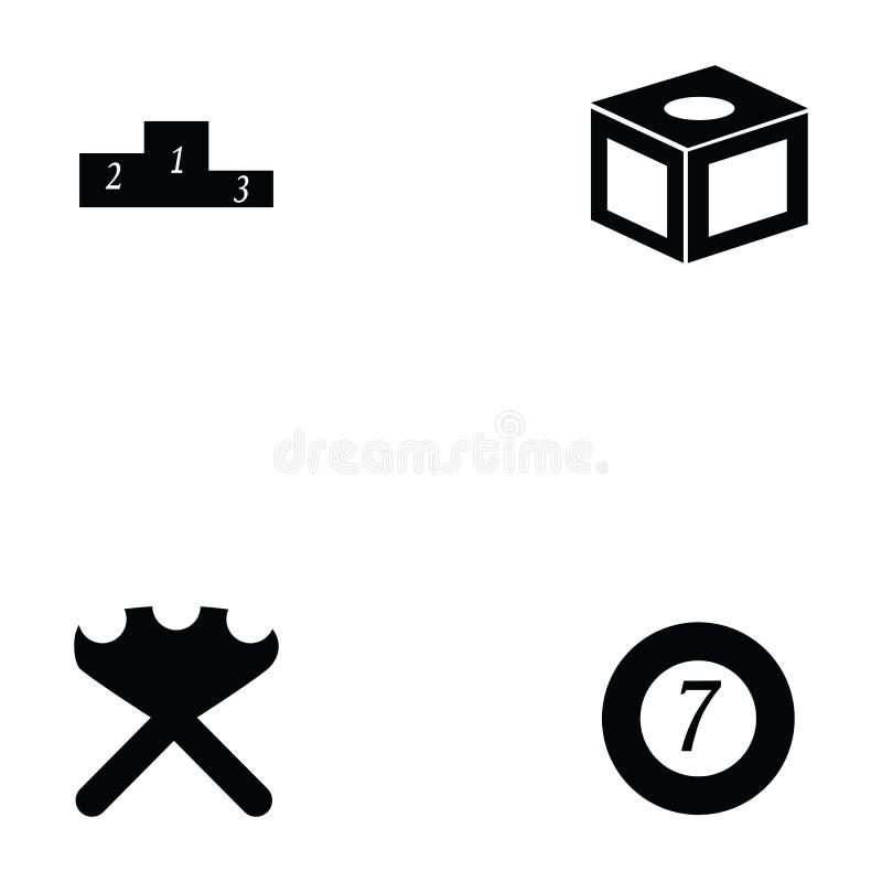 Billiards ikony set ilustracja wektor