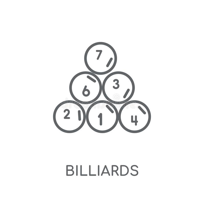 Billiards linear icon. Modern outline Billiards logo concept on stock illustration
