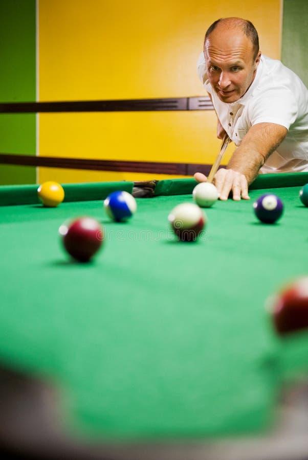 billiards obsługują bawić się zdjęcia royalty free