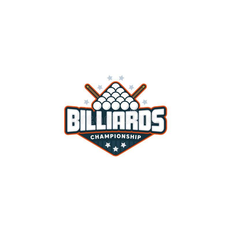 Billiards odznaki logo ilustracja wektor