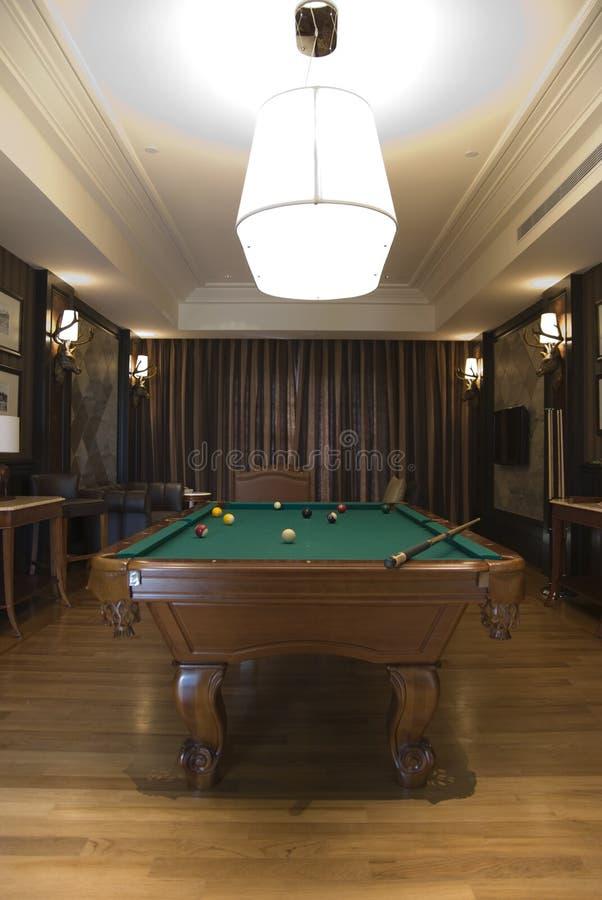 billiards pokój zdjęcie royalty free