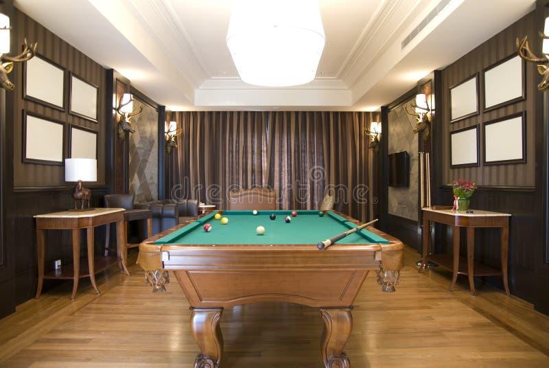 billiards pokój zdjęcia royalty free