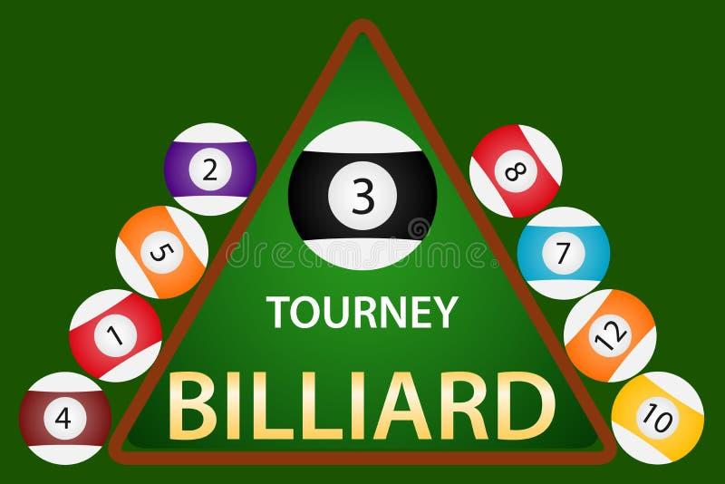 Billiards, billiards sign. Billiard balls. Vector illustration stock illustration
