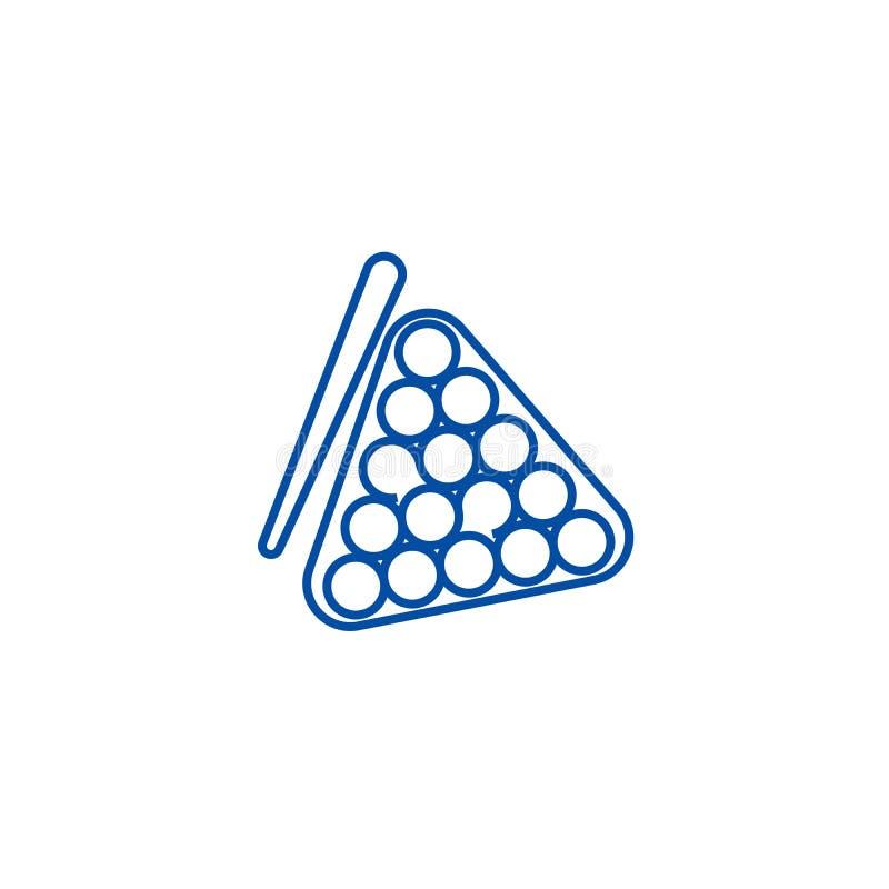 Billiards wykładają ikony pojęcie Billiards płaski wektorowy symbol, znak, kontur ilustracja royalty ilustracja