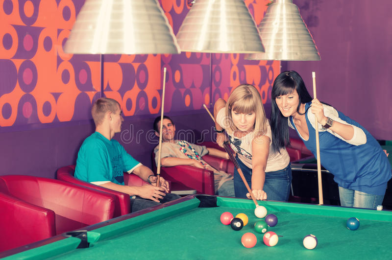 Download Billiards stock image. Image of boys, play, table, activity - 35952911