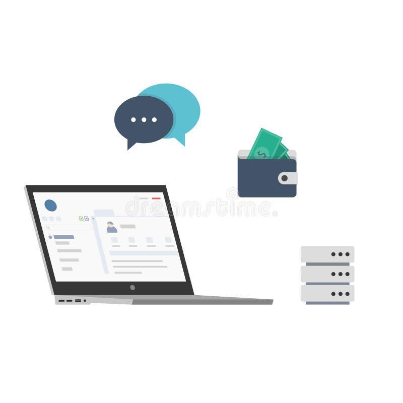 Billing Software Platform vector illustration