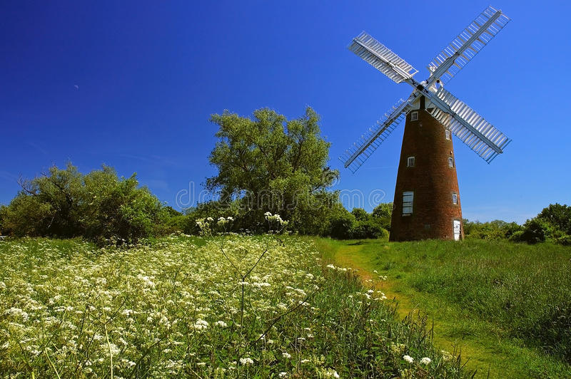 Billingford Windmill Norfolk. Windmill in the small village of Billingford Norfolk East Anglia England stock photography