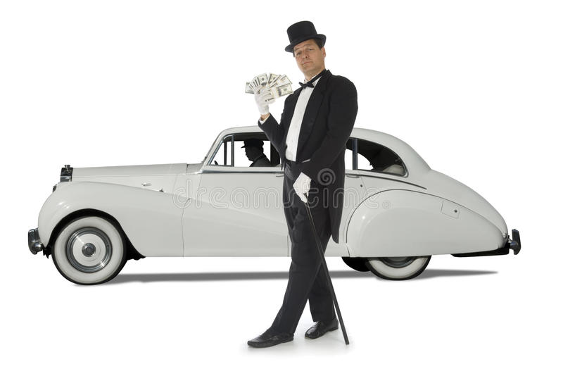 Billionaire on Wheels royalty free stock image