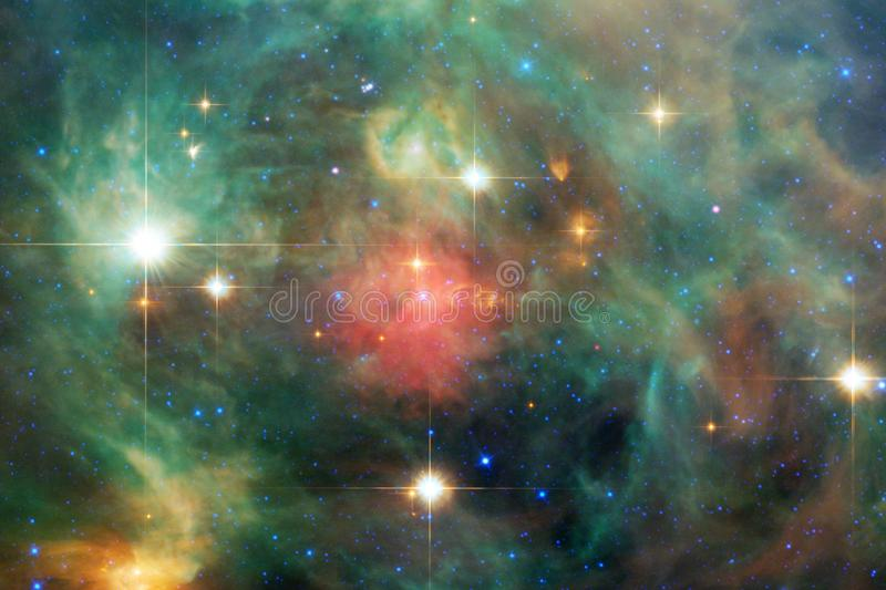 Billions of galaxies in the universe. Abstract space background. Elements of this image furnished by NASA stock illustration
