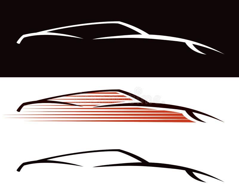 Billogo royaltyfri illustrationer