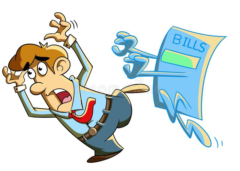 Bills Chasing a Person royalty free stock photography