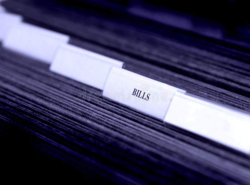 Download Bills Organized In Filings Tabs Stock Image - Image: 6979593