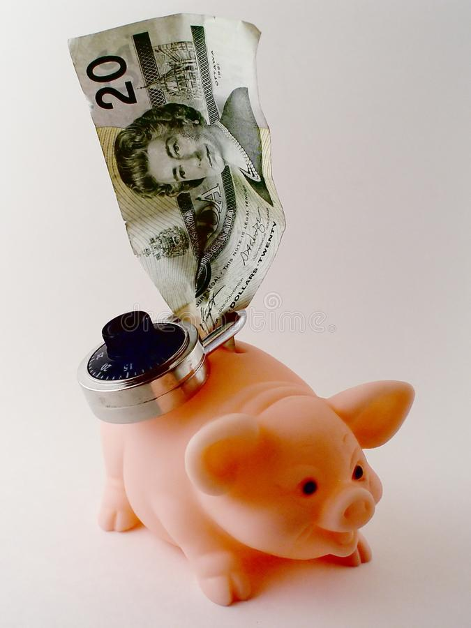 Download Bills and a Piggy Bank stock image. Image of curreny, spend - 83605