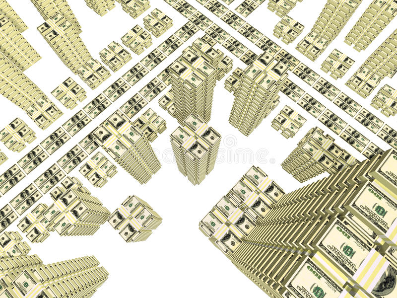 Download Bills Placed As Streets And Building Of City Stock Illustration - Image: 11971920