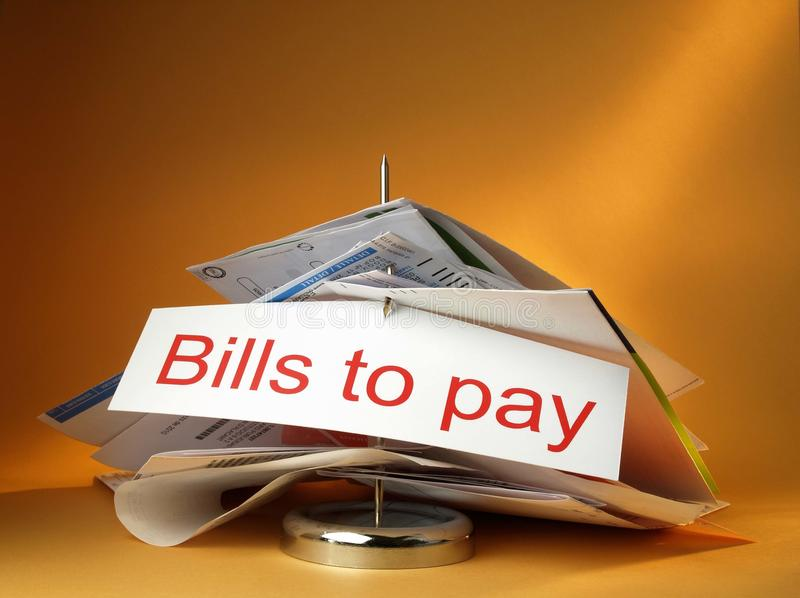 Bills To Pay Royalty Free Stock Photography