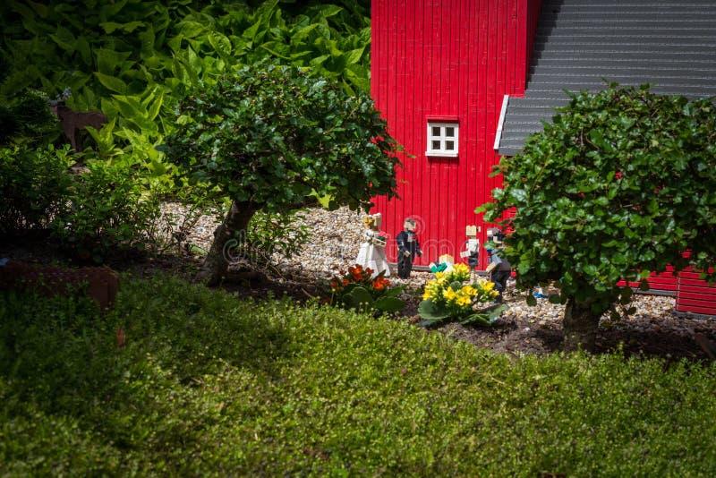 Billund, Danemark - 27 juillet 2017 : Cérémonie de mariage avec des personnes photo stock