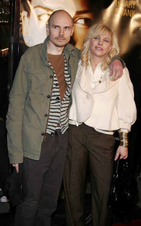 Billy Corgan e Courtney Love foto de stock royalty free