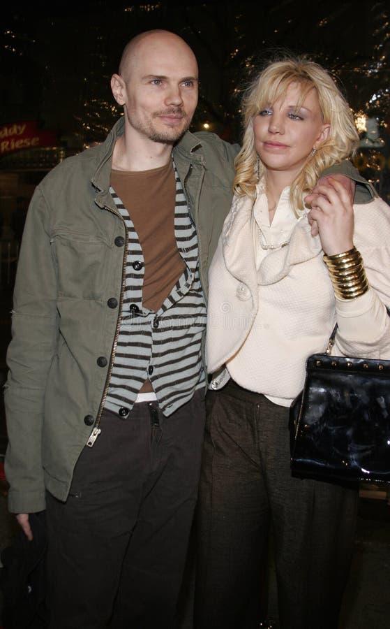 Billy Corgan e Courtney Love fotografia de stock