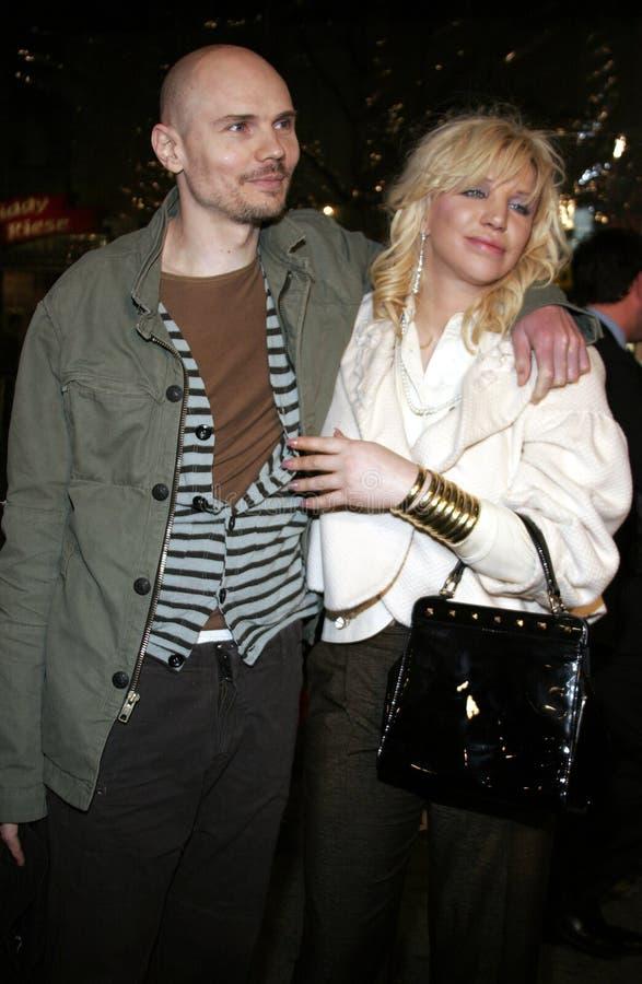 Billy Corgan e Courtney Love fotos de stock royalty free