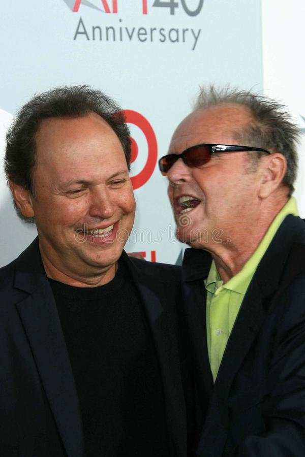 Billy Crystal, Jack Nicholson fotografia de stock royalty free