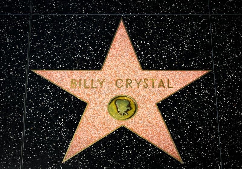 Billy Crystal Star na caminhada de Hollywood da fama fotografia de stock